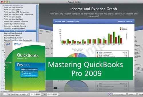 MASTERING QUICKBOOKS PRO 2009